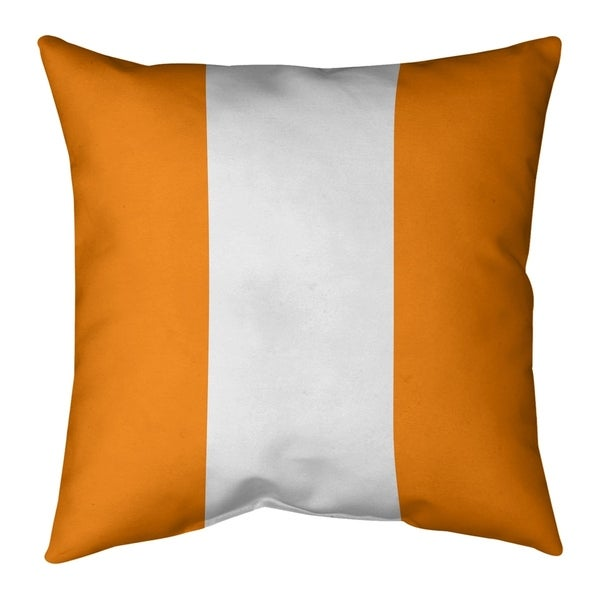 Tampa Bay Tampa Bay Throwback Football Stripes Pillow (Indoor/Outdoor)
