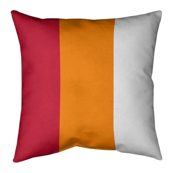 Tampa Bay Tampa Bay Throwback Football Stripes Pillow-Cotton Twill