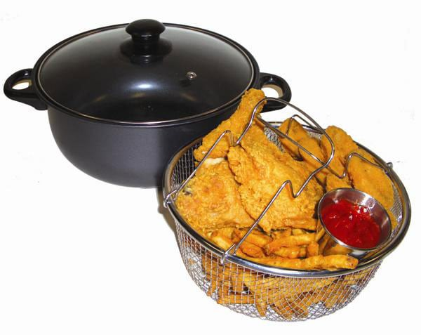 Carbon Steel Nonstick 4 Quart Deep Fryer Free Shipping