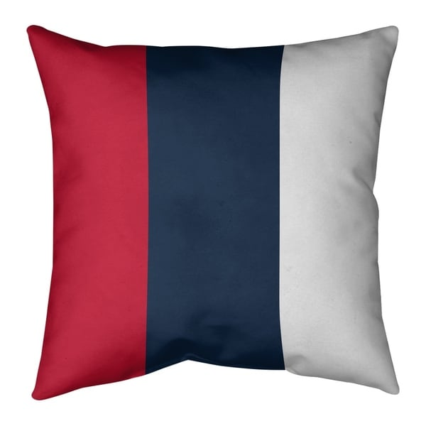 Tennessee Tennessee Red Football Stripes Pillow-Faux Suede