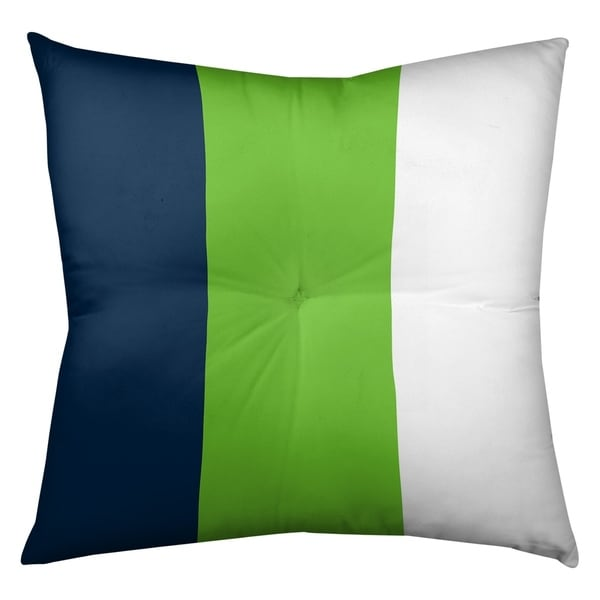 Seattle Seattle Football Stripes Floor Pillow - Square Tufted