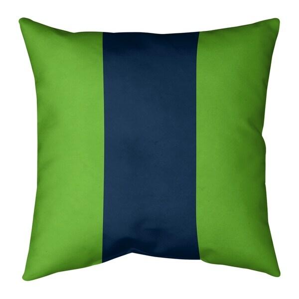 Seattle Seattle Football Stripes Pillow (w/Rmv Insert)-Spun Poly