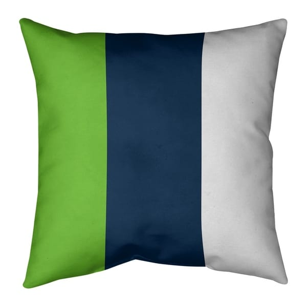 Seattle Seattle Football Stripes Pillow-Faux Linen