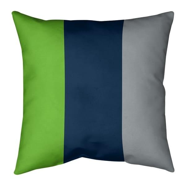 Seattle Seattle Football Stripes Pillow-Cotton Twill