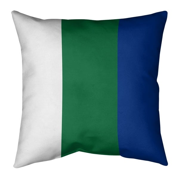 Seattle Seattle Throwback Football Stripes Pillow-Cotton Twill