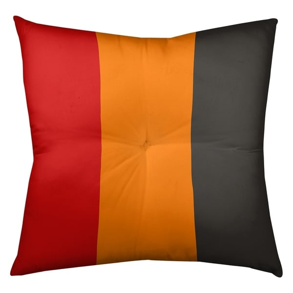 Tampa Bay Tampa Bay Football Stripes Floor Pillow - Square Tufted