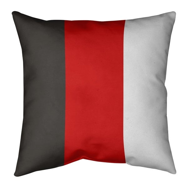 Tampa Bay Tampa Bay Football Stripes Pillow-Faux Suede