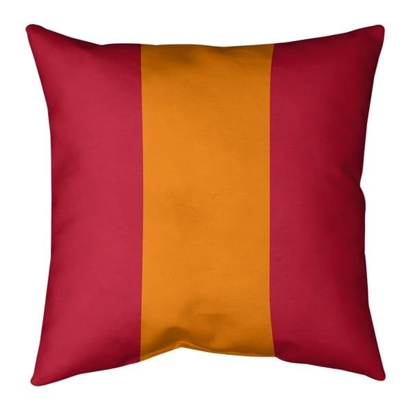 Tampa Bay Tampa Bay Throwback Football Stripes Pillow-Faux Linen