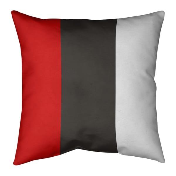 Tampa Bay Tampa Bay Football Stripes Pillow-Faux Linen