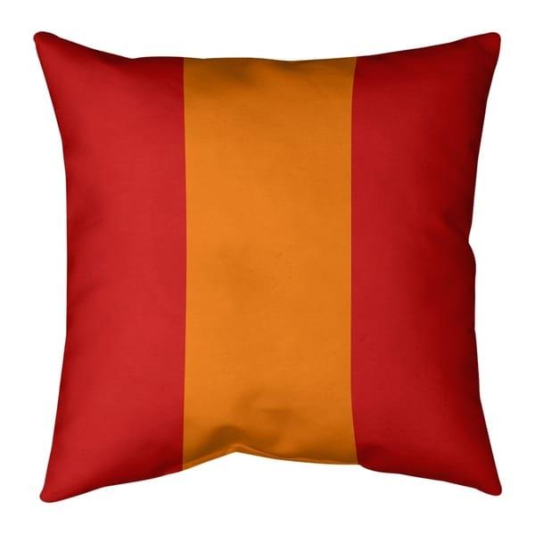 Tampa Bay Tampa Bay Football Stripes Pillow (Indoor/Outdoor)
