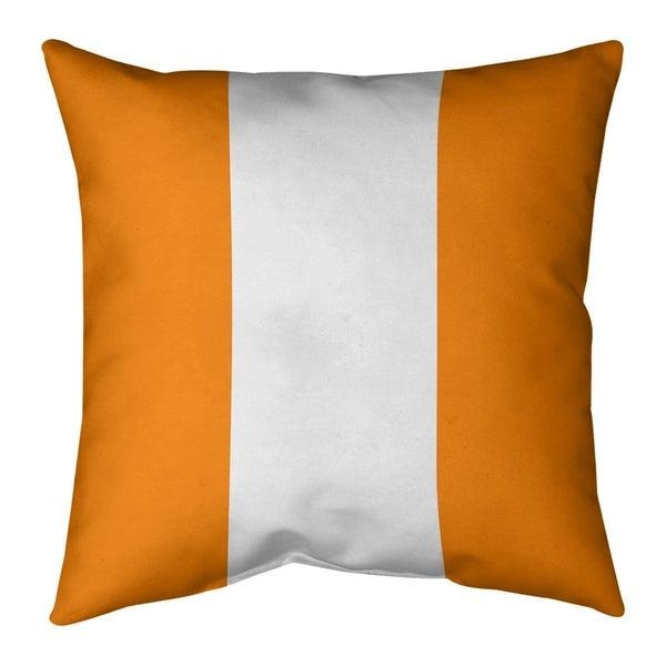Tampa Bay Tampa Bay Throwback Football Stripes Pillow (w/Rmv Insert)-Spun Poly