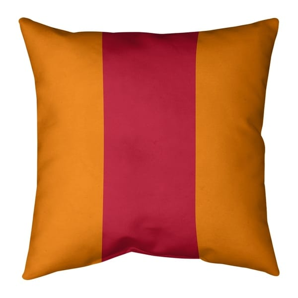 Tampa Bay Tampa Bay Throwback Football Stripes Pillow-Faux Suede
