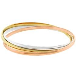 Kate Bissett Tri-tone Stackable Bangle Bracelets