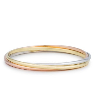Kate Bissett Tri-tone Stackable Bangle Bracelets