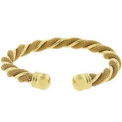 Kate Bissett Goldtone Cable Swirled Bracelet