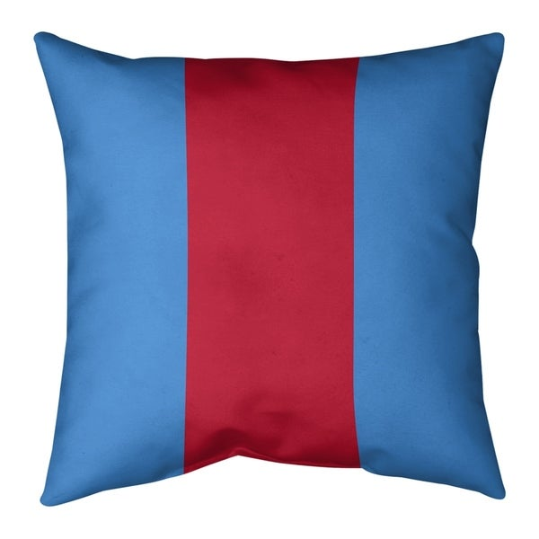 Tennessee Tennessee Red Football Stripes Pillow-Cotton Twill