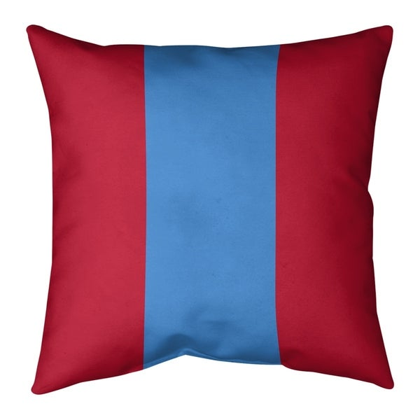 Tennessee Tennessee Red Football Stripes Pillow-Faux Linen