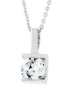 Kate Bissett Silvertone Large Round-cut Cubic Zirconia Necklace
