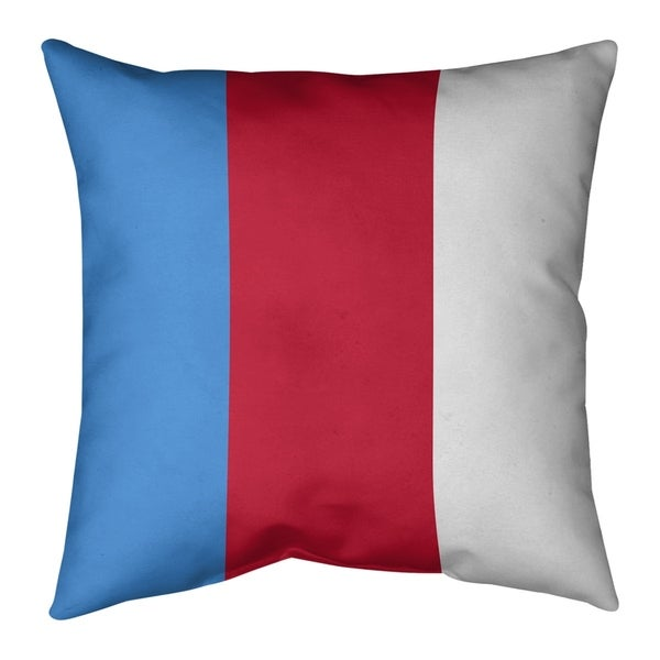 Tennessee Tennessee Red Football Stripes Pillow (Indoor/Outdoor)