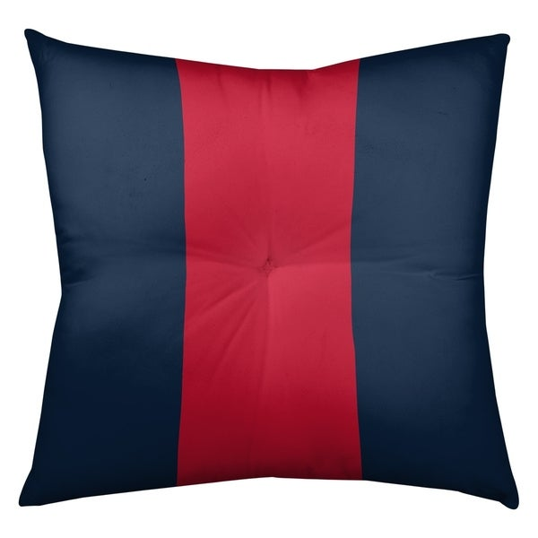 Tennessee Tennessee Red Football Stripes Floor Pillow - Square Tufted