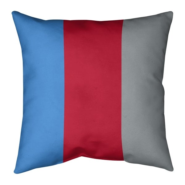 Tennessee Tennessee Red Football Stripes Pillow-Spun Polyester
