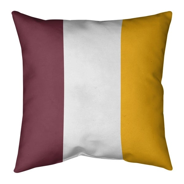 Washington Washington Football Stripes Pillow (w/Rmv Insert)-Spun Poly