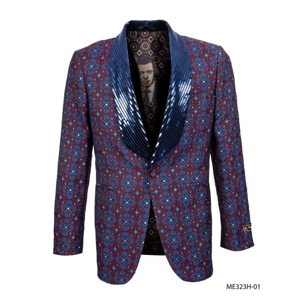 Empire Show Jacket Sequin Shawl Collar Dinner Jacket Suit
