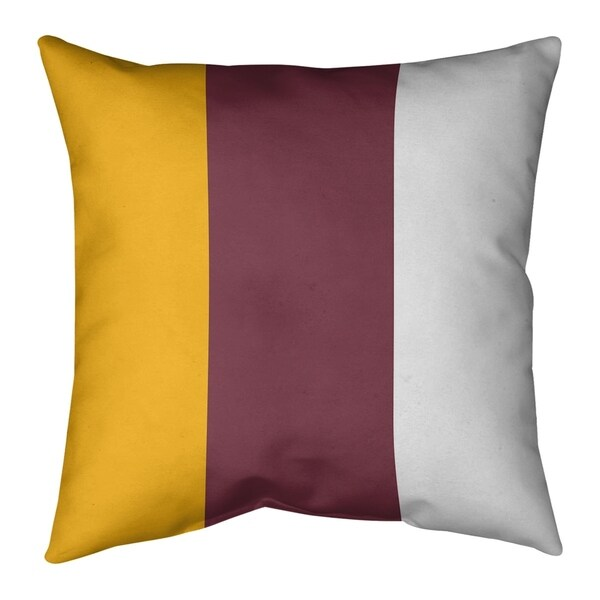Washington Washington Football Stripes Pillow-Spun Polyester
