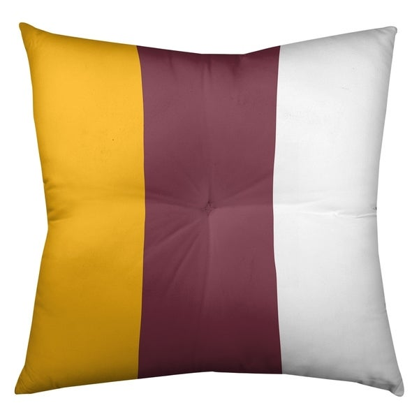 Washington Washington Football Stripes Floor Pillow - Square Tufted