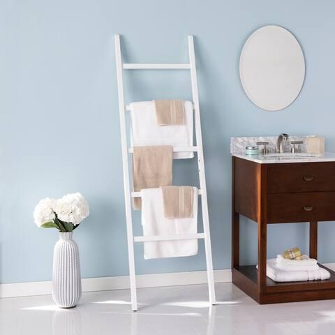 Porch & Den Belladora Freestanding Decorative Ladder Rack