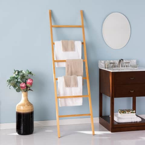 Porch & Den Blanston Freestanding Decorative Ladder Rack