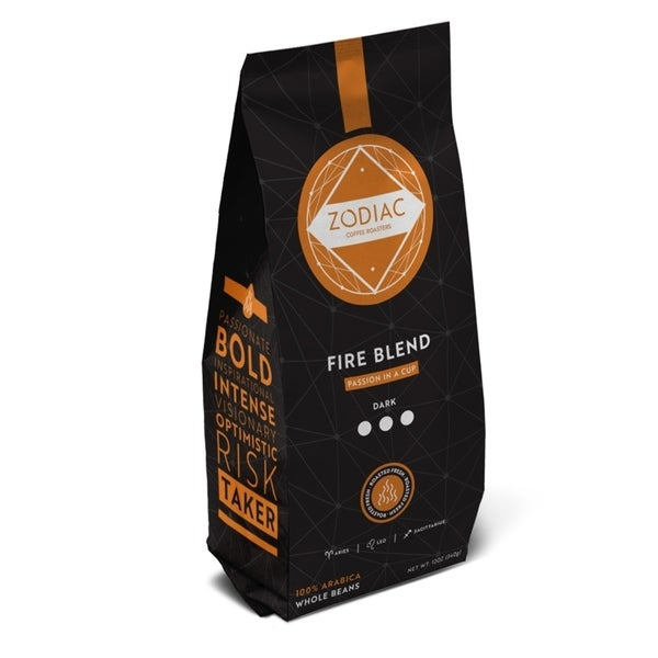 Zodiac Coffee 5lb Whole Bean Fire Blend - 5lbs