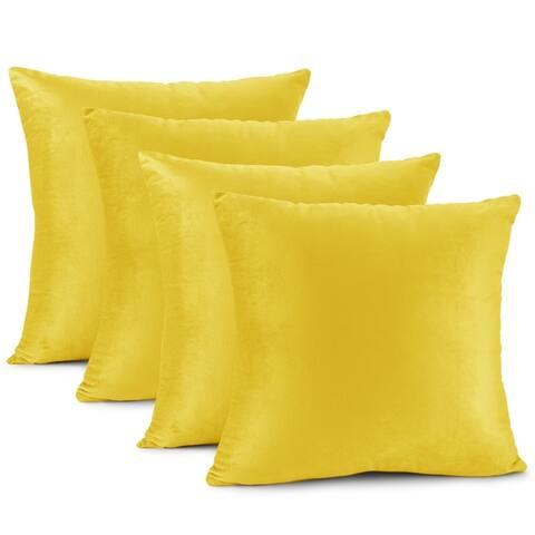 Nestl Bedding Solid Microfiber Soft Velvet Throw Pillow Cover
