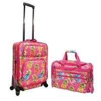 Deals on World Traveler Pinneapple 2-pc Spinner Luggage Gift Set