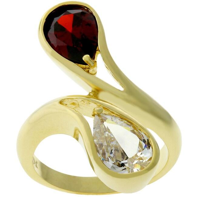 Kate Bissett Goldtone Multicolor CZ Kate Bissett Goldtone Fashion Ring