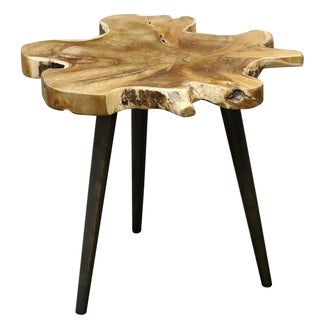 Lilty Brown Teak Root Side Table