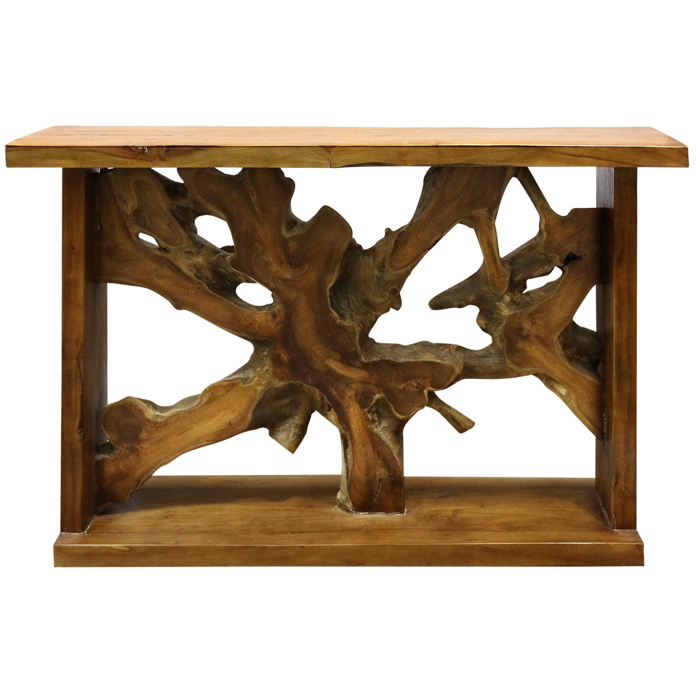 Picture of: Stylecraft Bennet Natural Oil Rubbed Solid Teak Root Console Table Overstock 30290576