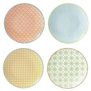 4 Piece Dinner Plate Set - Color