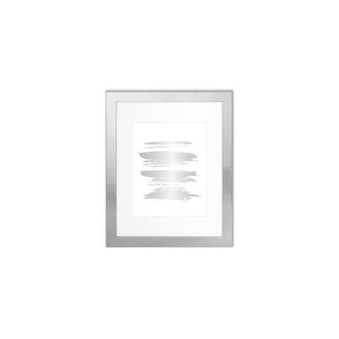 "Parkwood Shiny Silver 11"" x 14"" Frame with 8"" x 10"" Mat"