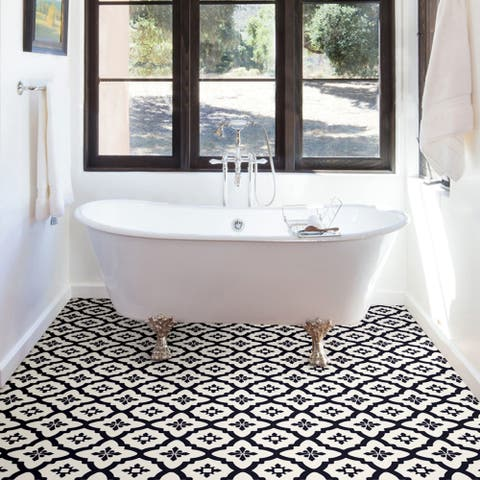 Madison, Peel & Stick Comet Floor Tiles