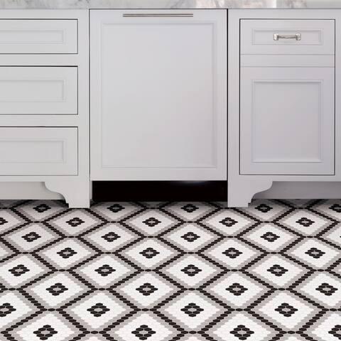 Grant, Peel & Stick Leyton Floor Tiles