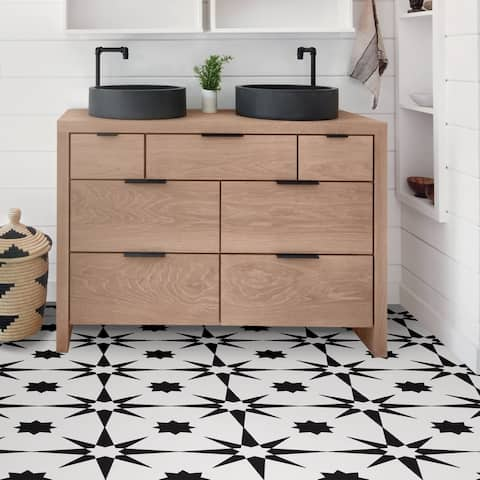 Lincoln, Peel & Stick Altair Floor Tiles