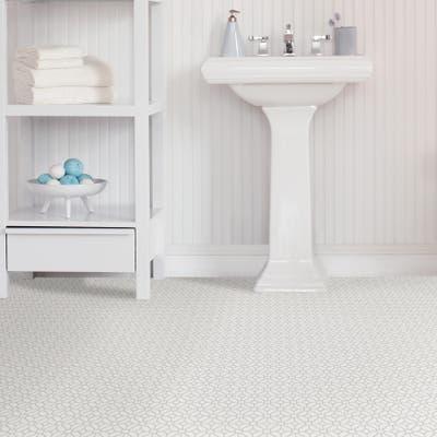 Pierce, Peel & Stick Lattice Floor Tiles