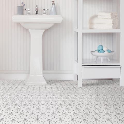 Monroe, Peel & Stick Kikko Floor Tiles