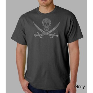 Los Angeles Pop Art Men's Pirate Flag Jolly Roger T-shirt (More options available)