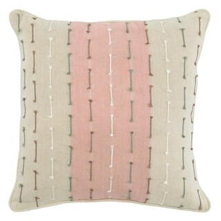 Kosas Home Mandy 100% Linen 22-inch Embroidered Throw Pillow