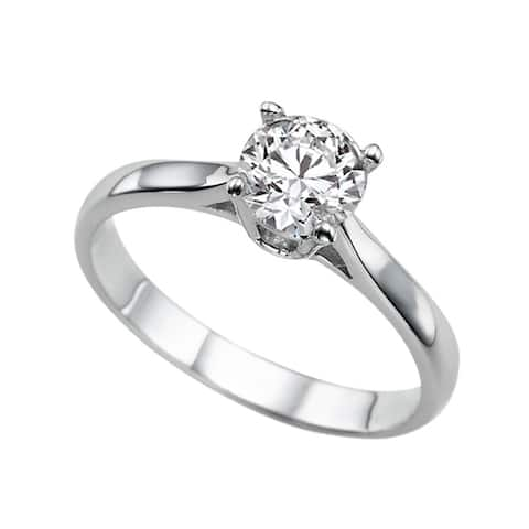 18k Gold 1.18ct Lab-Grown Diamond IGI Certified Round Brilliant Solitaire Engagement Ring.