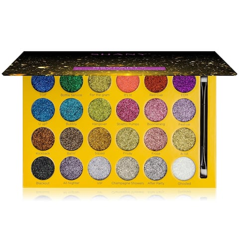 SHANY RSVParty Glitter Palette - 24 Pressed Glitter Pigments for Face and Body - MULTI-COLORED