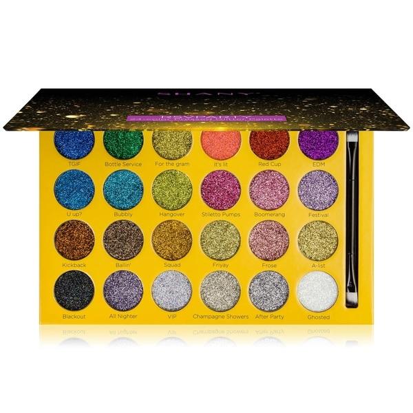 SHANY RSVParty Glitter Palette - 24 Pressed Glitter Pigments for Face and Body - MULTI-COLORED. Opens flyout.