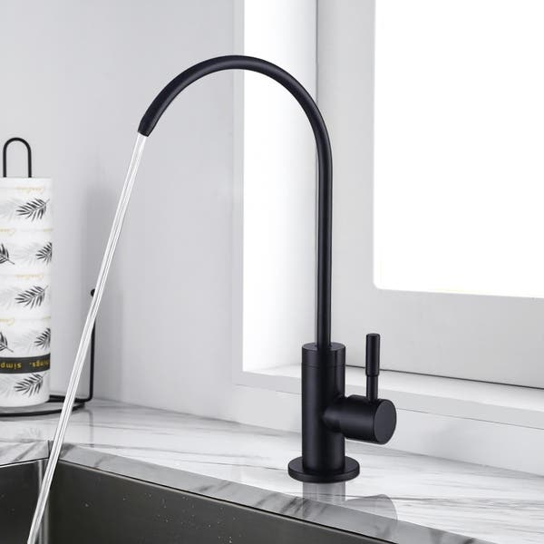 Shop Kitchen Water Faucet Stainless Steel Lead Matte Black ...